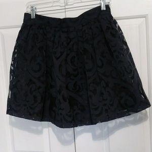 Nameless Sheer Print Overlay Mini Skirt